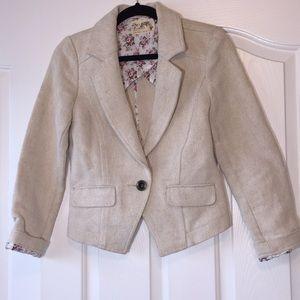 Free People Linen Jacket Blazer Lined